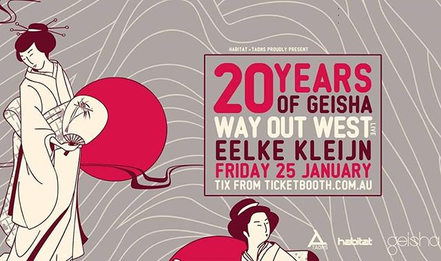 Our show at Geisha in Perth with Eelke Kleijn is sold out but if you really want to come, we've reserved a few tickets on the door! Get down early though :) .. .. .. .. .. #Perth #Geisha #WayOutWest #NickWarren #JodyWisternoff #EelkeKleijn #AustraliaDay