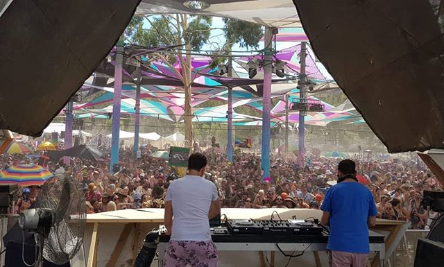 Doing our thing at @rainbowserpentfestival 💥 amazing crowd & festival .. .. .. .. .. .. .. .. .. .. .. .. .. .. .. #Rainbowserpent #festival #Victoria #WayOutWest #dj #JodyWisternoff  #NickWarren  #AustraliaDay