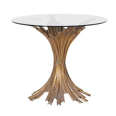 Vintage gold fluted table - available in store now £680