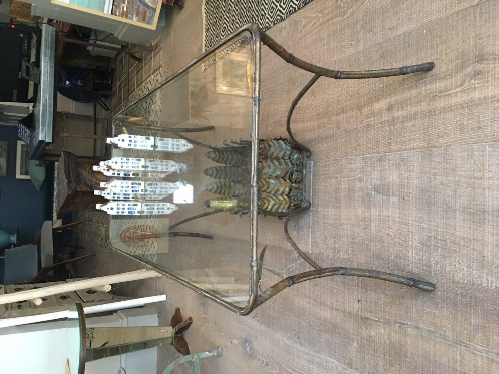 French Gilt bamboo coffee table - great space underneath for flowers or books £ 695 in store now