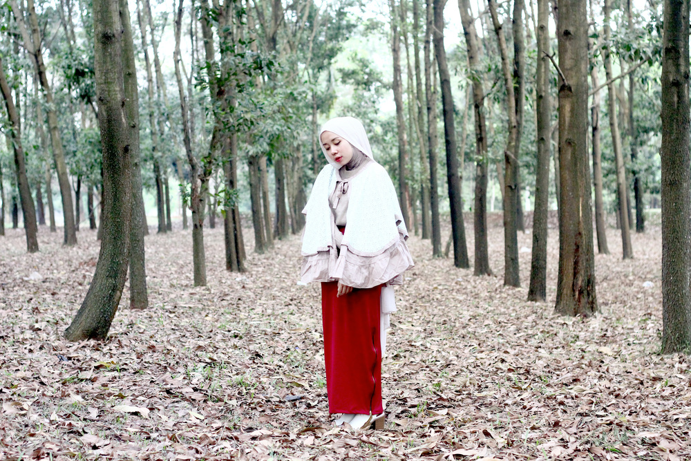 I was wearing classic cape by Hijab Chic