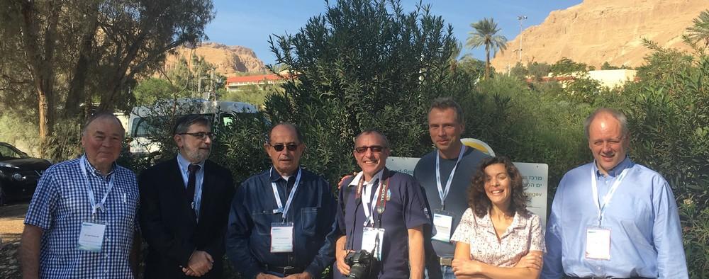 F.v. Dr. Jan Haslerud, Dr. Marco Harari, Prof. Zvi Bentwich, Prof. Hugo Jørgensen, Dr. Rune Dramsdahl, Dr. Shiri Meshner og Dr. Dag G. Storla