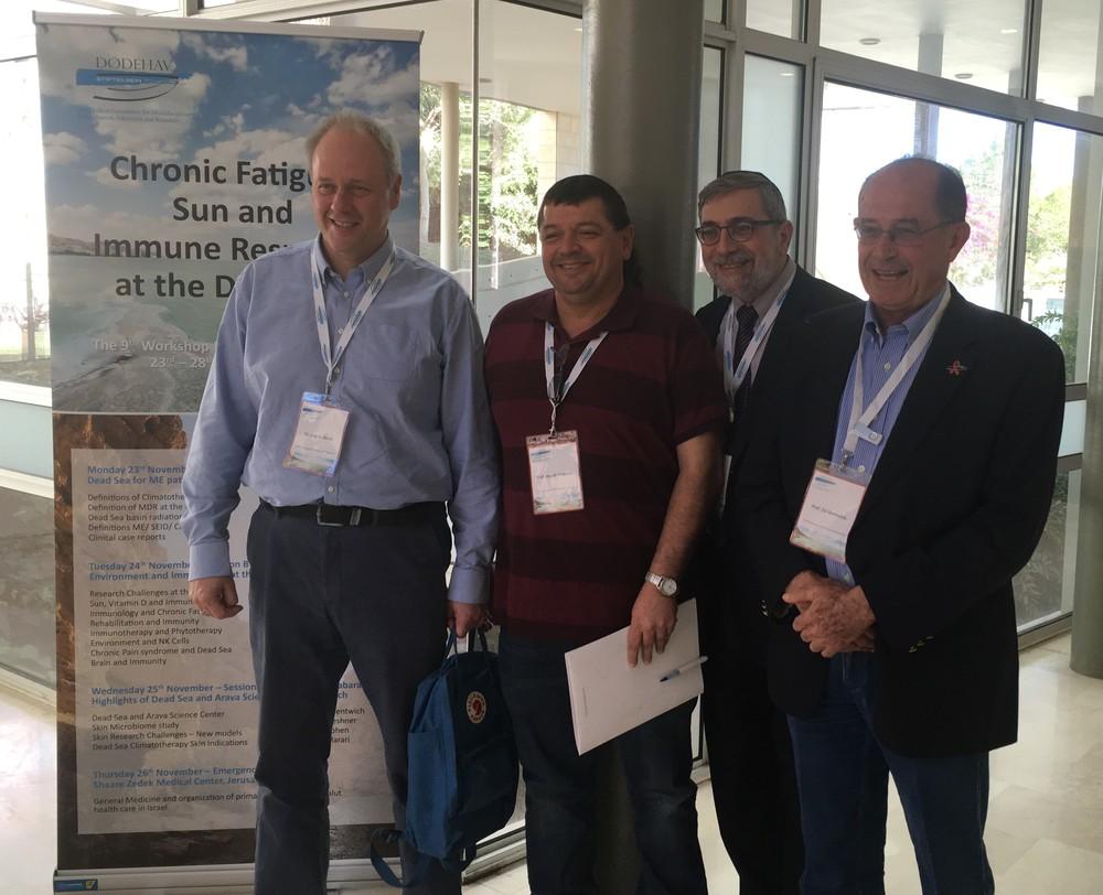 F.v. Dr. Dag G. Storla, Prof. Angel Porgador, Dr. Marco Harari og Prof. Zvi Bentwich