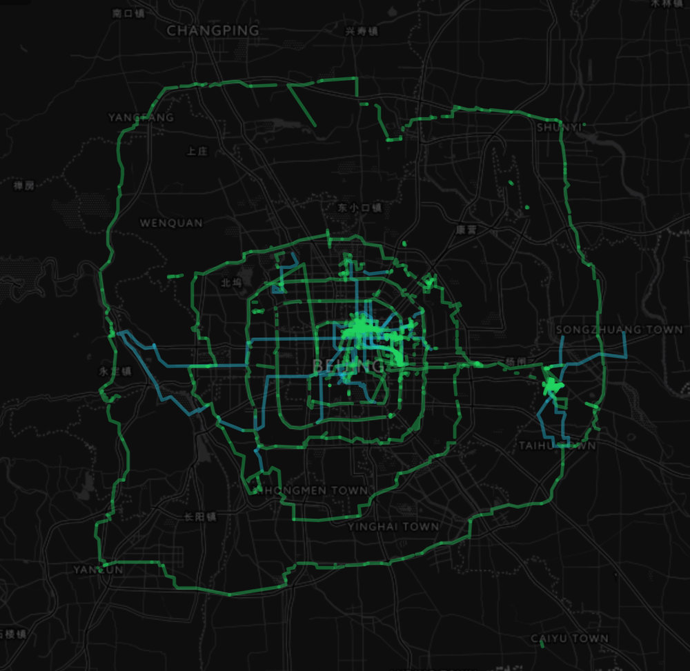 Data visualisation of Fuller's walking and cycling research. Learn more  here.