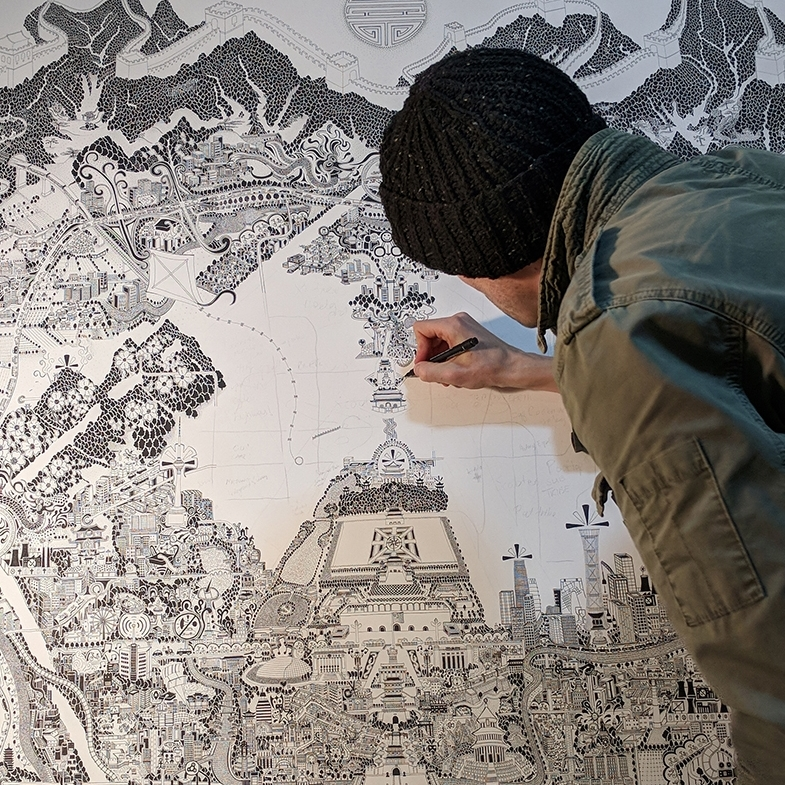 Fuller drawing 'Beijing'. Read articles and news  here .