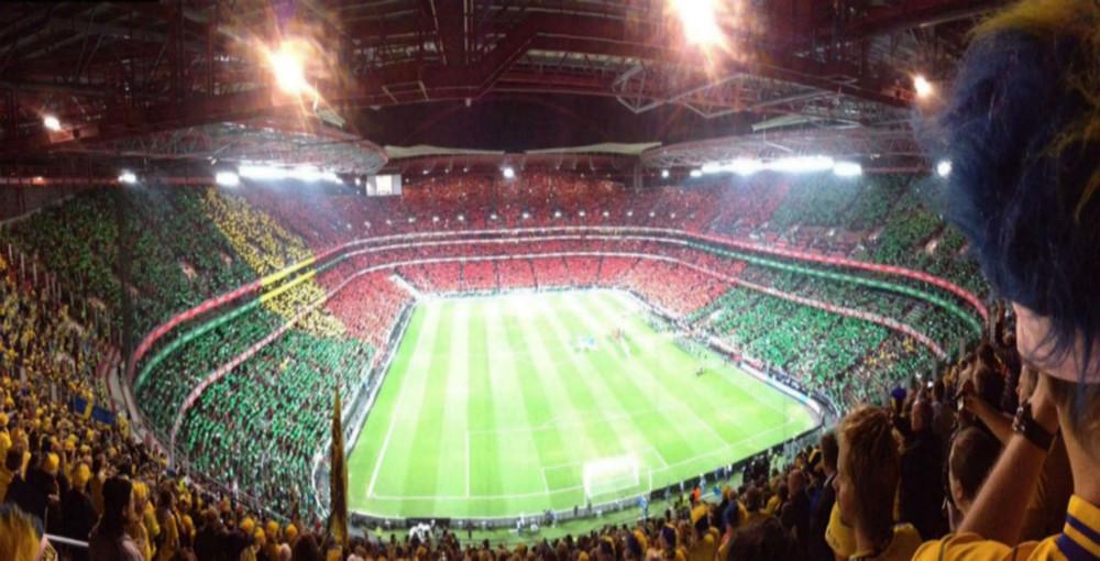 Estádio da Luz, Lisbon. Portugal x Sweden, 2013.
