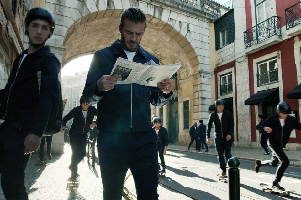 David Beckham for H&M in Lisbon. (Photo: H&M)