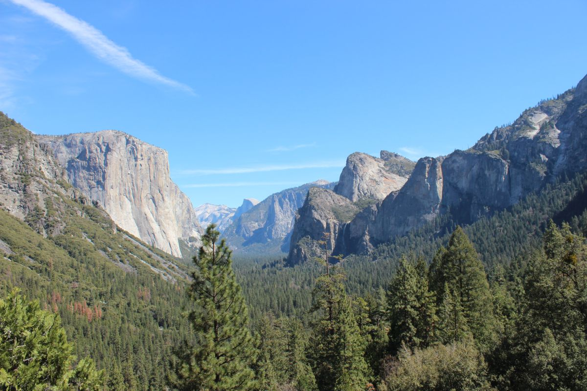 Entry point to the famous Yosemite National Park
