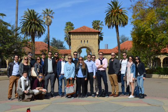 Group photo of our class at Stanford University