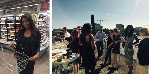 Shopping for Jolly Trolley at M&S  - Enjoying jolly trolley on the rooftop