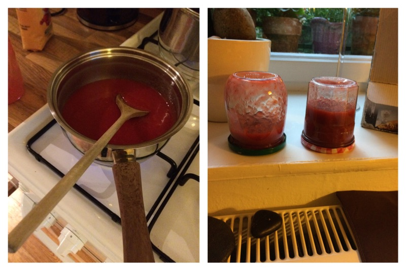 Speaking of homemade!  I finally made my first self-made marmalade.  Strawberry-lime-rosemary :)