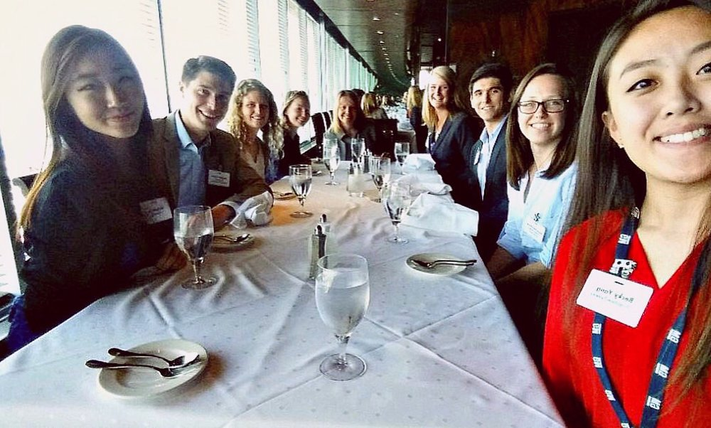 Lunch with CEO Mary Barra and fellow interns!
