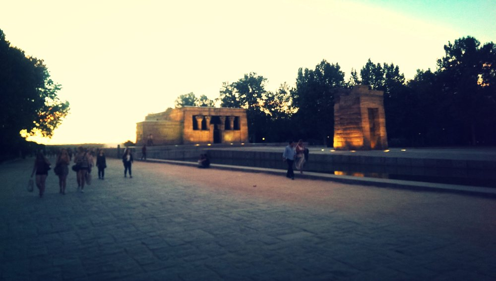 Egyptian temple in Madrid