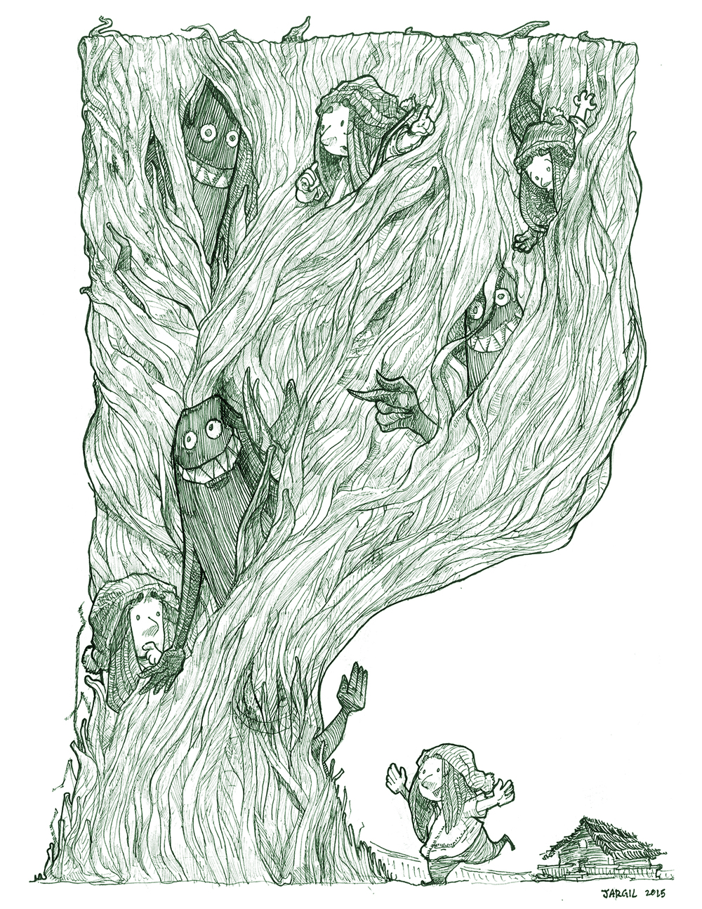 "Comic made for ""Grassman"" Anthology w/   Chris Passabet    Alissa Sallah    Amelia Sealy"