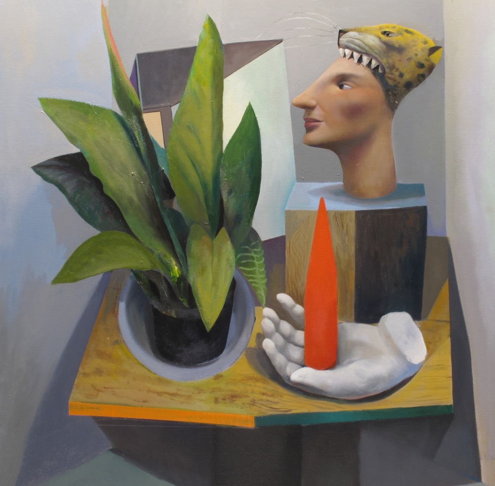 Still life with hand and Obelisk