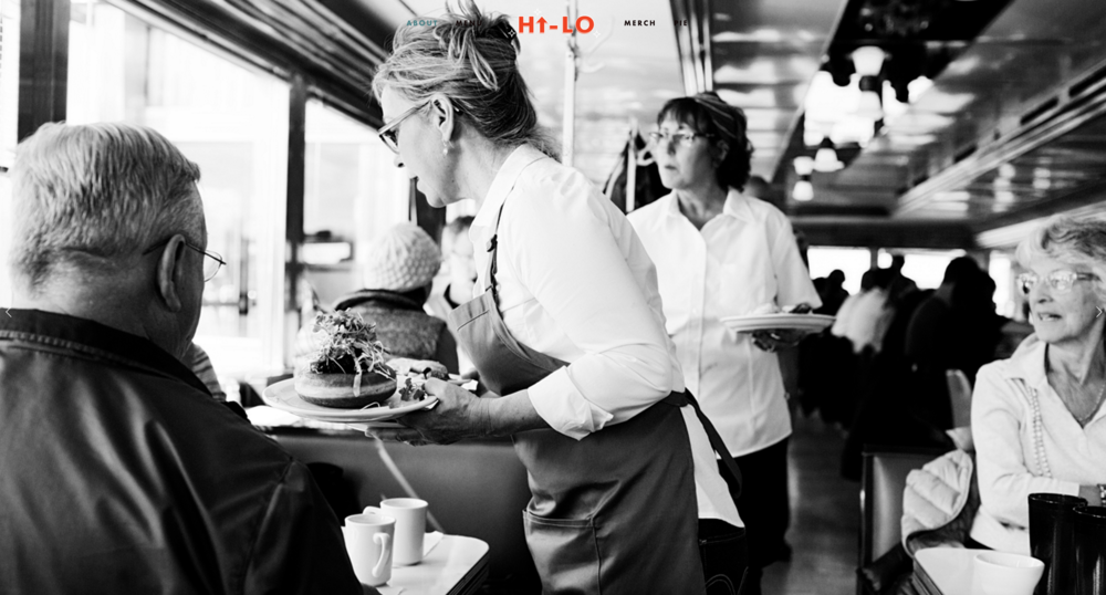 Imagery used on the hi lo diner website