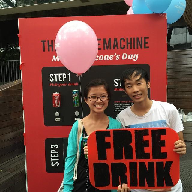 @ypssss got a free drink :) courtesy of @totototobi. Woohooo!