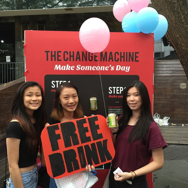 @froggymus , @lieahbee , @yvvyantan got a free drink :) thank you @samtroller and @rorienneeleanor for making their day :) awesome!