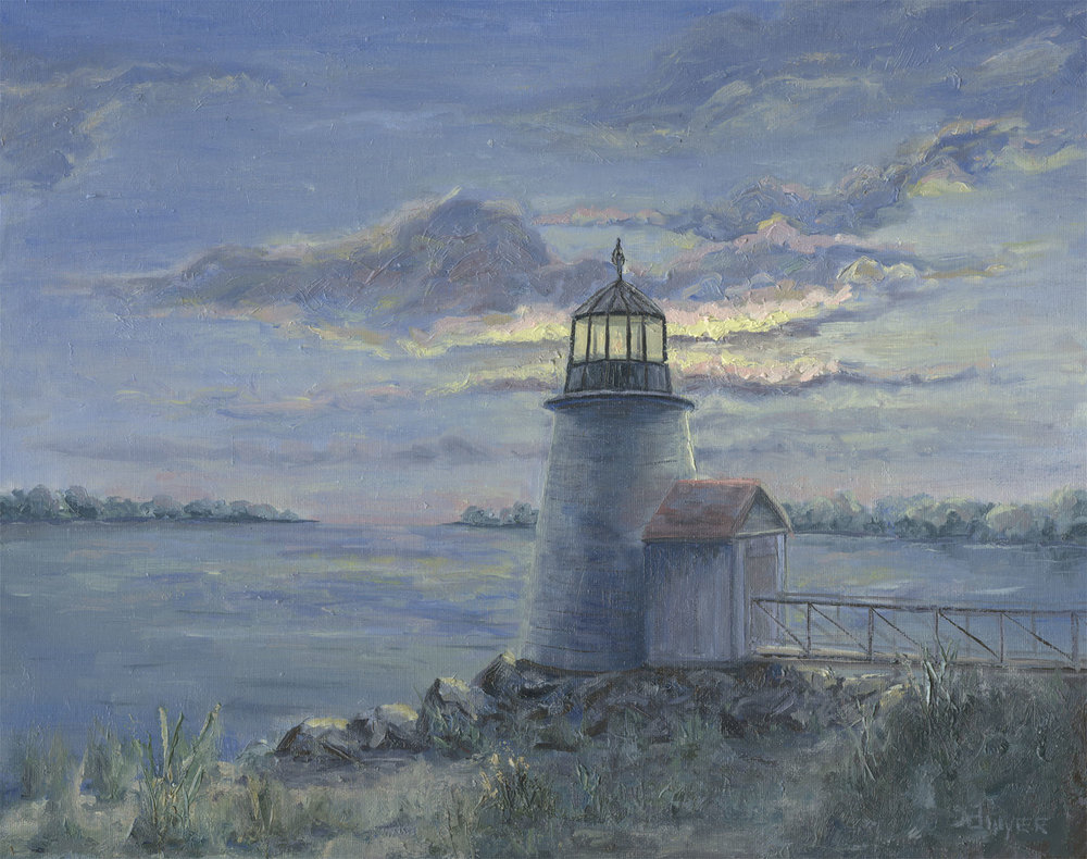 """""""Nantucket Lighthouse""""    16x20   Oil on stretched canvas   In private collection, Hillsborough, NC"""