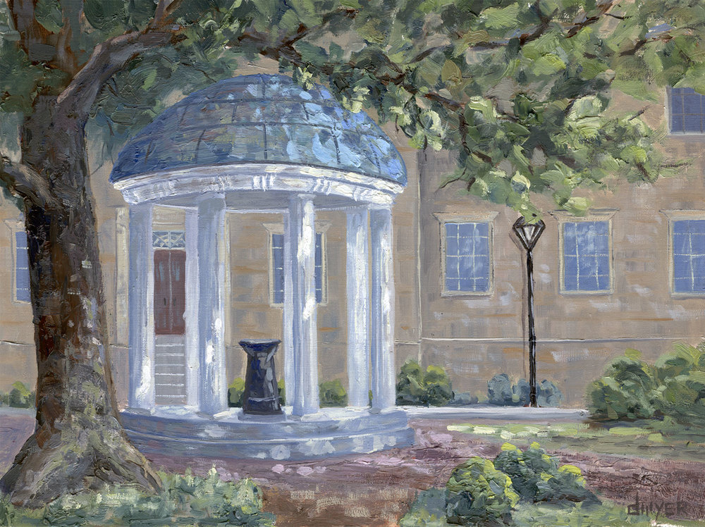 """""""On Campus""""    12x16   Oil on stretched linen   In private collection, Chapel Hill, NC"""