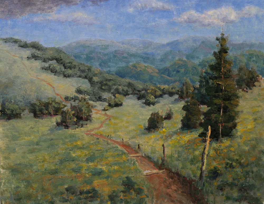 """""""Afternoon on Big Bald""""    9x12   Oil on linen panel   In private collection, Pinehurst, NC"""