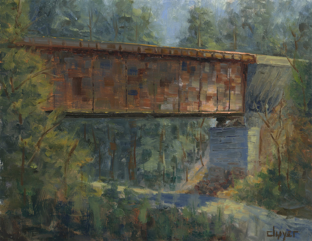"""""""Gold Park Trestle""""    9x12   Oil on linen panel   In collection of artist"""