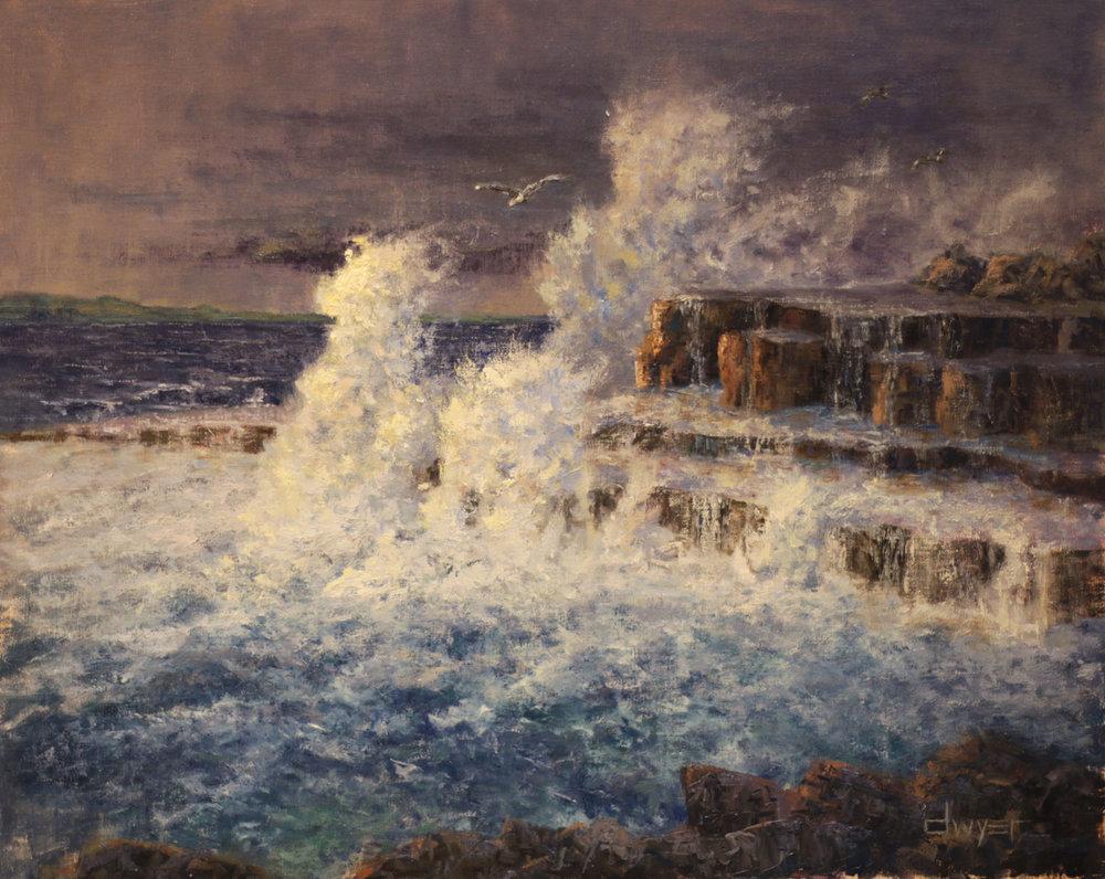 """Doolin Splash""    16x20   Oil on linen panel   In private collection, Palmyra, VA"