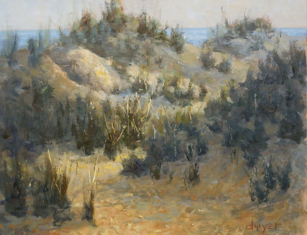 """""""Dunes Sunset""""    12x16   Oil on linen panel   In collection of artist"""