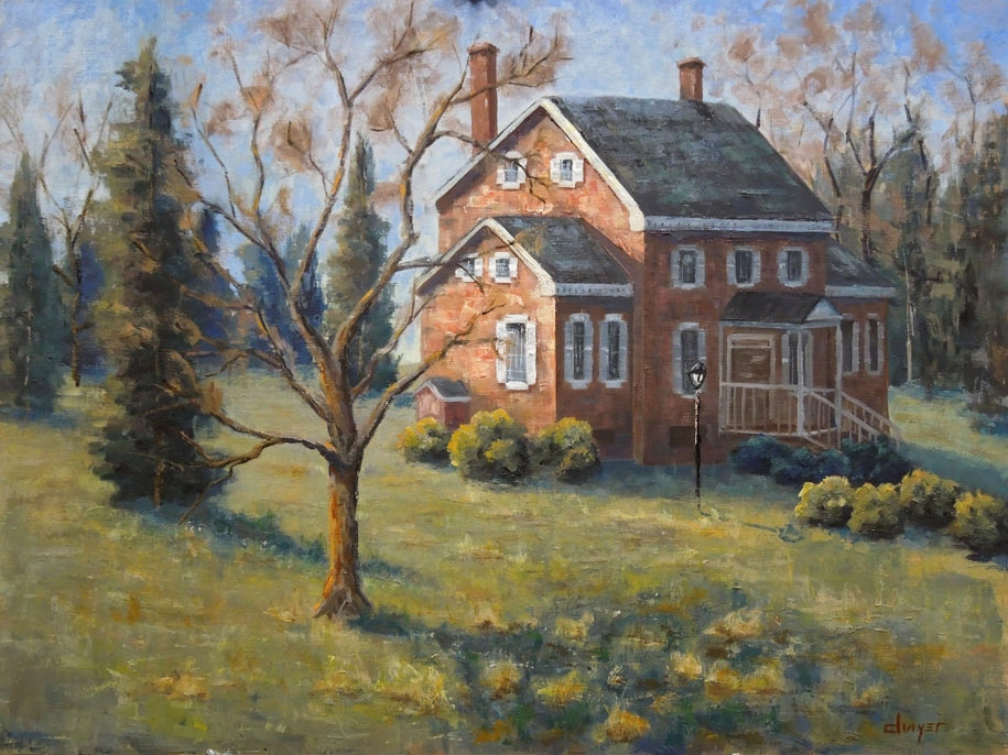 """""""Warm Winter Day at Ayr Mount""""    18x24   Oil on linen panel   Available through  email"""
