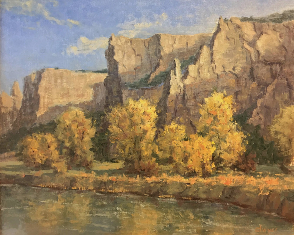"""""""Montana Cliffs""""    16 x 20   Oil on linen panel   In collection of artist"""