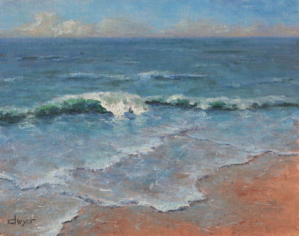 """""""Breaking Wave""""    11 x 14   Oil on linen panel   Available through  email"""