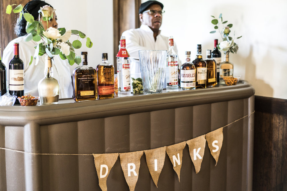 We literally ran out of liquor. Probably because our bar was so cute and we had the best wedding bartenders IMAGINABLE.