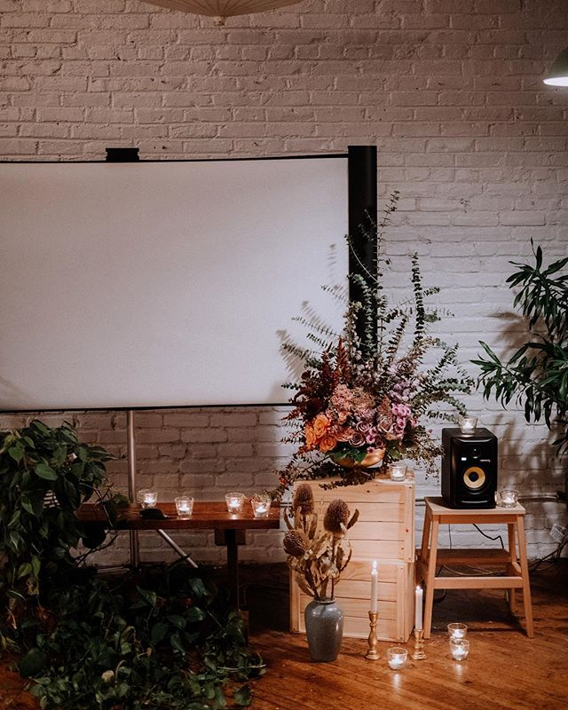 @solidityfilms and I teamed up on a film premiere for his lovely clients, Courtney and Chris. Thank you to the awesome @patrobinsonphoto for the photos and @lovemedophoto for the amazing space!