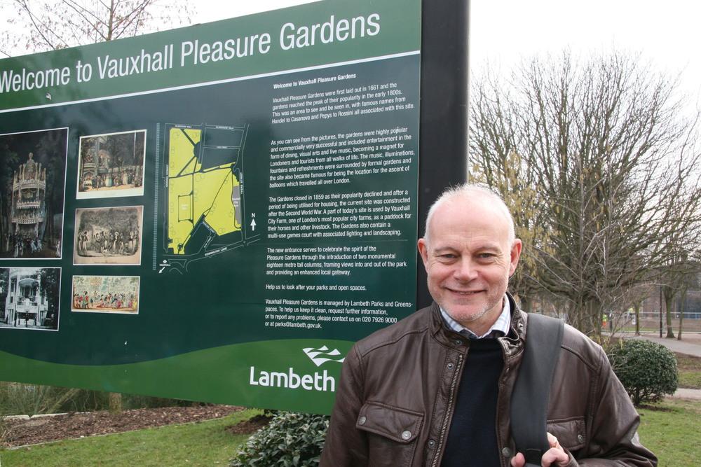 Jeff Raggett in Vauxhall Pleasure Gardens