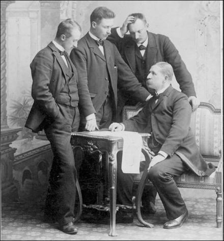 Vilhelm Swedenborg (reserve), Nils Strindberg, Knut Frænkel & Salomon Andrée,1897