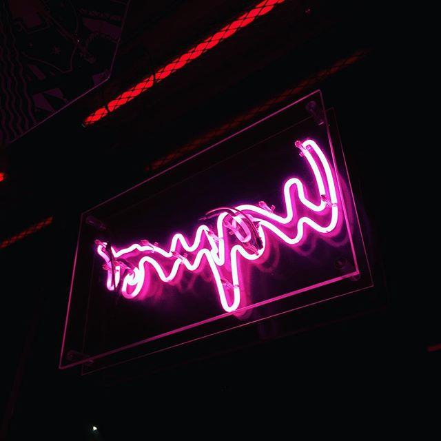 Neon dinner #meatliquor