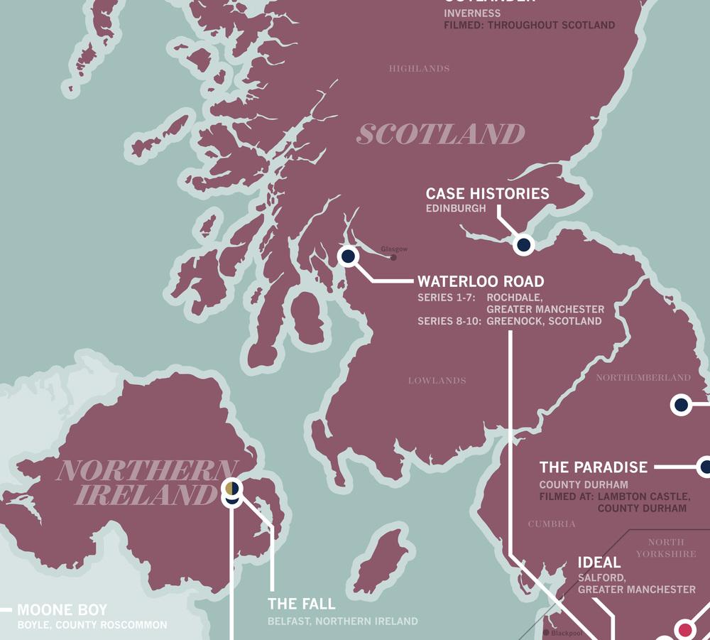 Great British TV Map — Tim Ritz Graphic Design on