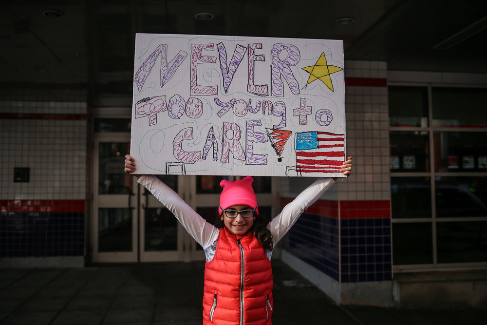 "Stamford, Connecticut - January 21st, 2017: ""Never Too Young To Care."""