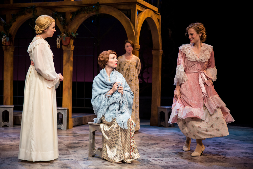 Margaret (right) in Much Ado About Nothing, Great River Shakespeare Festival