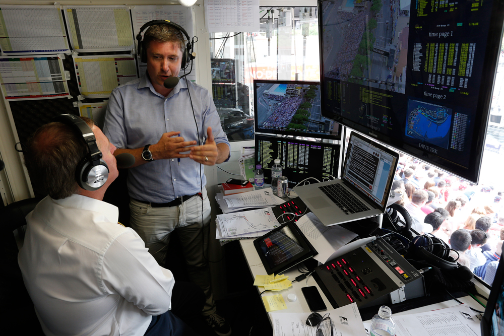 David Croft and Martin Brundle commentating for Sky Sports F1