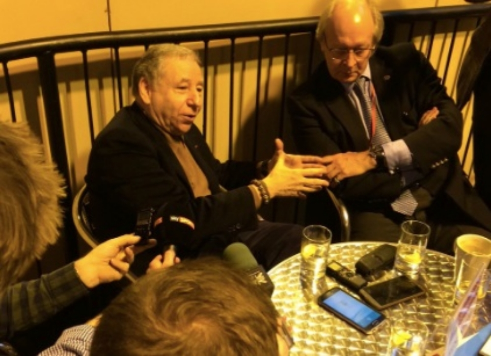 FIA President Jean Todt in conversation with the media @Autosport_Show #CroftysPics