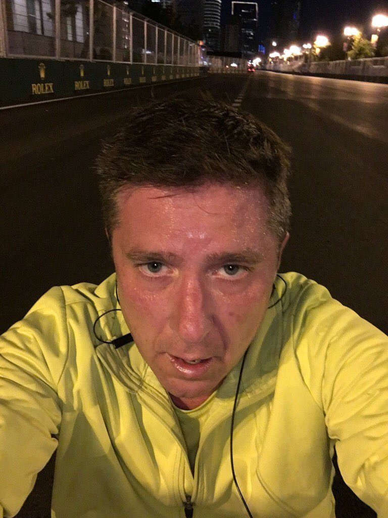 So I ran the track last night. It was hot! No blood but definitely Sweat & Tears!! #CroftysPics #HypeF1Challenge