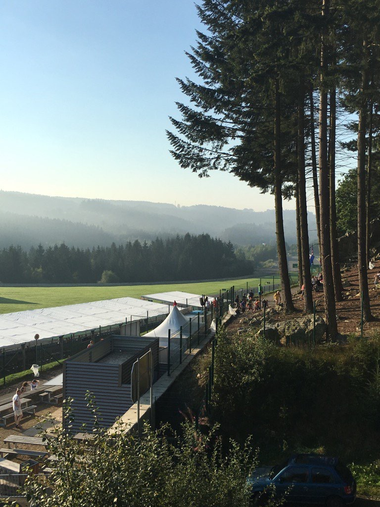 Early arrivals on another gorgeous Spa F1 morning #CroftysPics