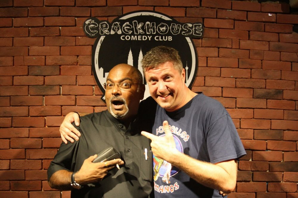 So it was this mans fault that I ended up doing stand up comedy in KL! Cheers @ShankarEQ it was a fab night, I think :)) #CroftysPics