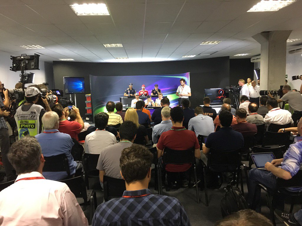 The FIA Thursday Press Conference & a heavyweight line up. So many questions good job it's a full house #CroftysPics