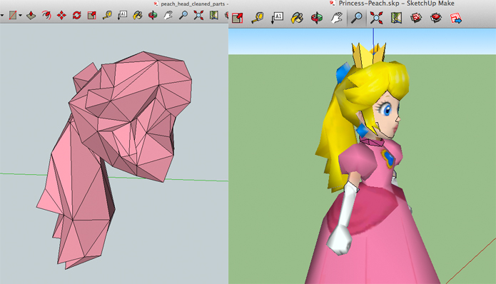 I have just taken her head and hair and reduced polygons. This is one of the components for my work.