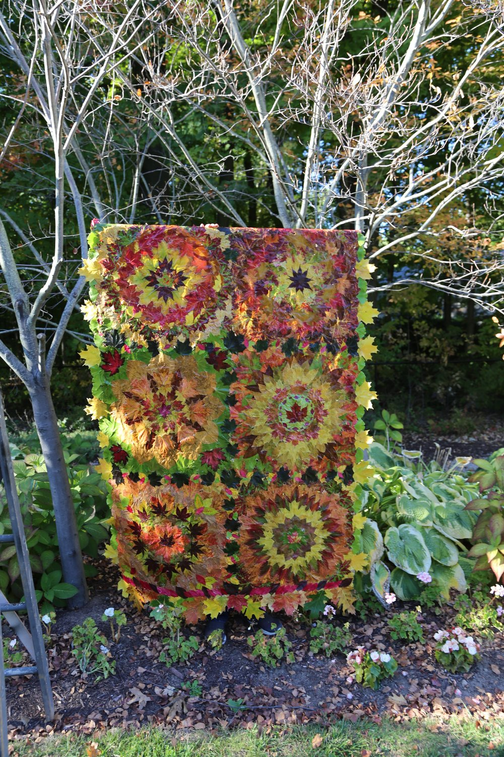 Leaf Quilt in Trees by Nancy Zimmerman
