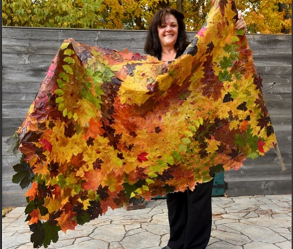 Me and my leaf quilt.
