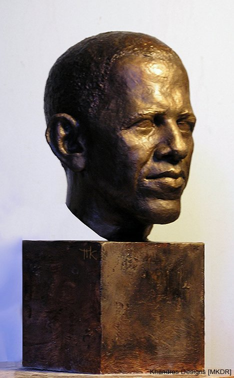President Obama lifesize bust