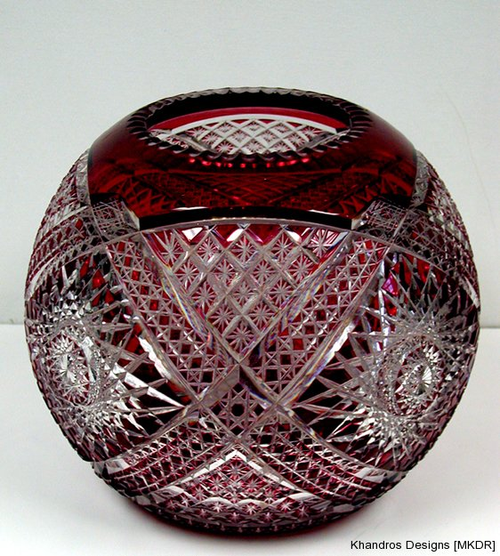 Austrian Hand Carved Crystal Bowl restoration